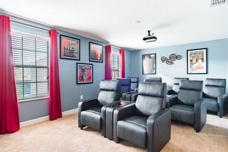 Theater room in Champions Gate