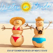 Escape the cold! Winter in Florida!